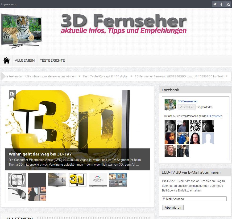 3D Fernseher Magazin