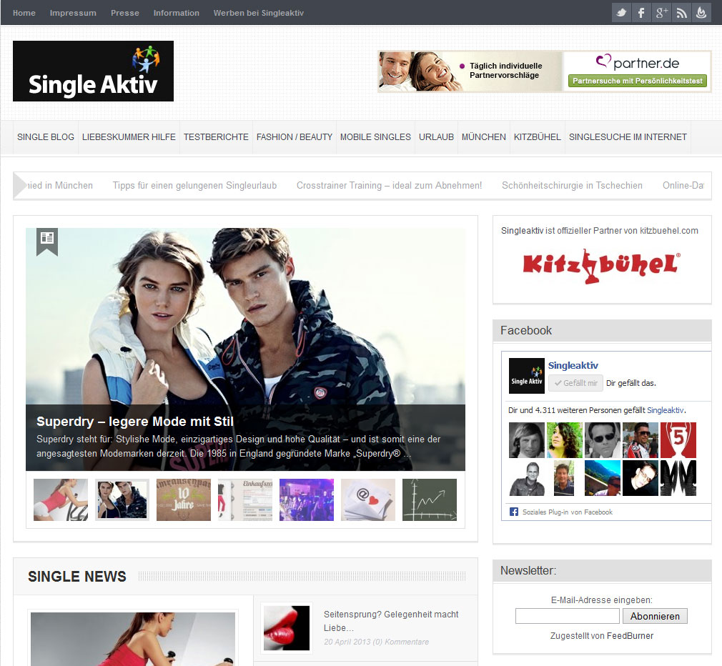 Singleaktiv - das Single-Magazin